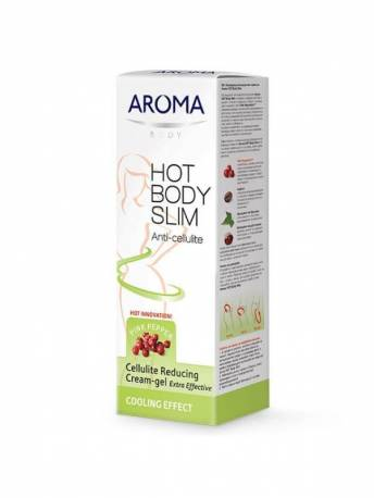 COOLING CELLULITE REDUCING CREAM-GEL AROMA HOT BODY SLIM - 200 ML