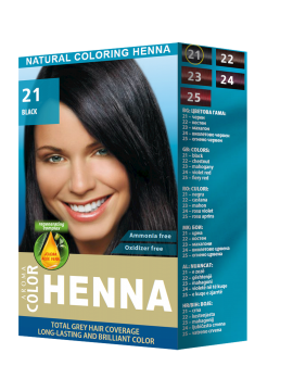 Natural coloring henna Aroma Color № 21 Black - 30 ml