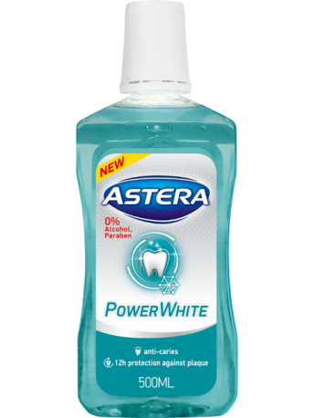 MOUTHWASHES ASTERA XTREME POWER WHITE - 500 ML
